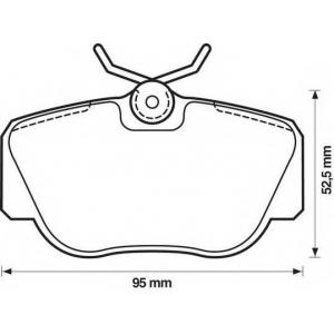 BENDIX 571353B колодки тормозные передние