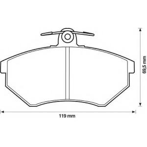 BENDIX 571357B колодки тормозные передние