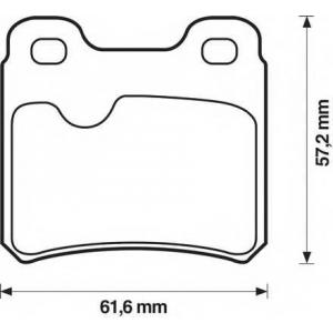 BENDIX 571407B колодки тормозные задние