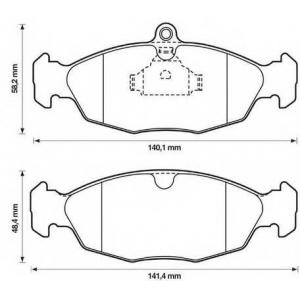 BENDIX 571492B колодки тормозные передние