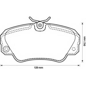 BENDIX 571493B колодки тормозные передние