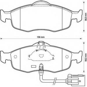 BENDIX 571522B колодки тормозные передние