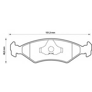 BENDIX 571536B колодки тормозные передние