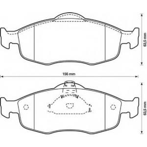 BENDIX 571832B колодки тормозные передние