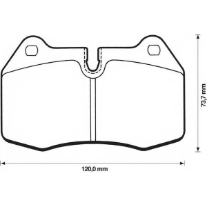 BENDIX 571852B колодки тормозные передние