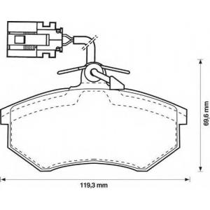 BENDIX 571856B колодки тормозные передние
