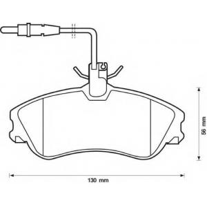 BENDIX 571919B колодки тормозные передние