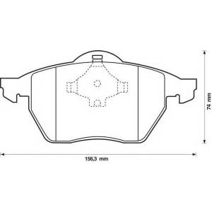 BENDIX 571935B колодки тормозные передние