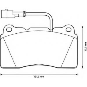 BENDIX 571952B колодки тормозные передние