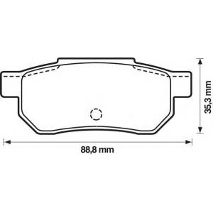 BENDIX 572135B колодки тормозные задние