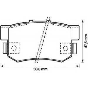 BENDIX 572138B колодки тормозные задние