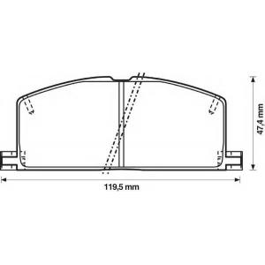 BENDIX 572255B колодки тормозные передние