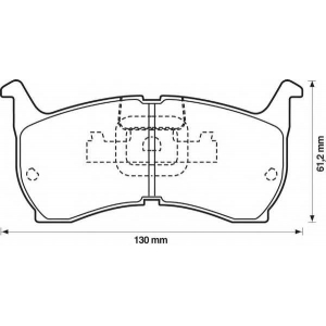 BENDIX 572319B колодки тормозные передние