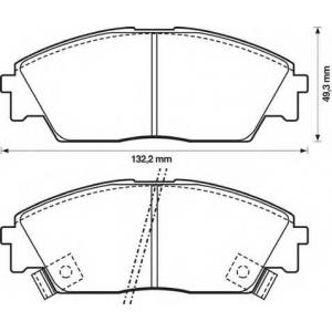 BENDIX 572330B колодки тормозные передние