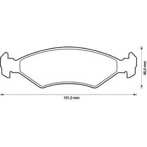 BENDIX 572388B колодки тормозные передние