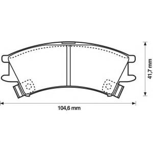 BENDIX 572401B колодки тормозные передние