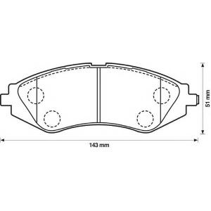 BENDIX 572403B колодки тормозные передние
