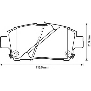 BENDIX 572405B колодки тормозные передние