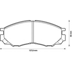 BENDIX 572419B колодки тормозные задние