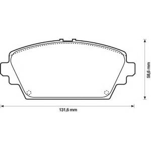 BENDIX 572428B колодки тормозные передние