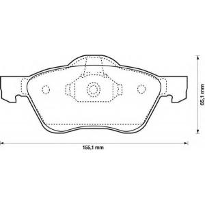 BENDIX 572431B колодки тормозные передние