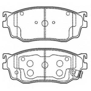 BENDIX 572444B колодки тормозные передние