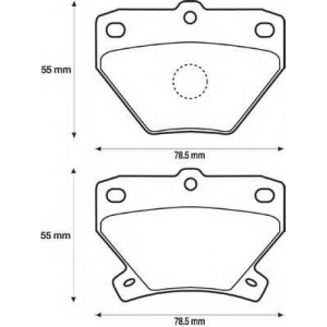 BENDIX 572450B колодки тормозные задние