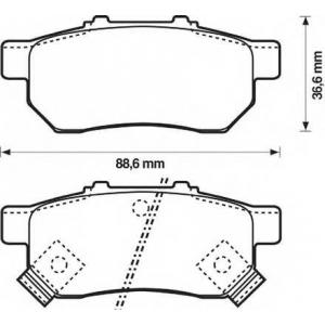 BENDIX 572473B колодки тормозные задние
