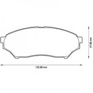 BENDIX 572499B колодки тормозные передние