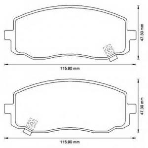BENDIX 572526B колодки тормозные передние