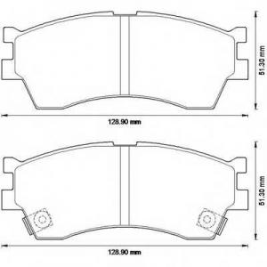 BENDIX 572560B колодки тормозные передние