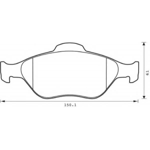 BENDIX 573041B колодки тормозные передние