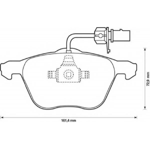 BENDIX 573047B колодки тормозные передние