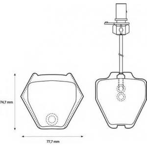 BENDIX 573064B колодки тормозные передние