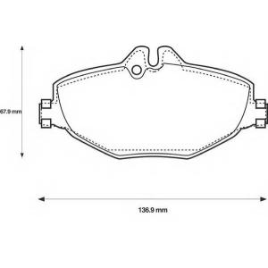 BENDIX 573091B колодки тормозные передние