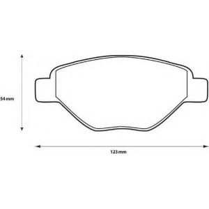 BENDIX 573123B Комплект тормозных колодок, дисковый тормоз