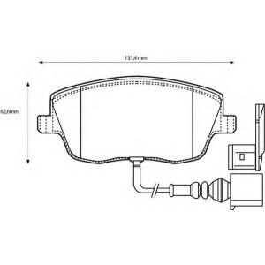 BENDIX 573127B колодки тормозные передние