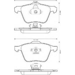 BENDIX 573143B колодки тормозные передние