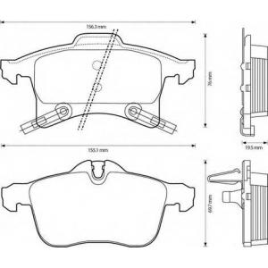 BENDIX 573153B тормозные колодки передние