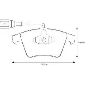 BENDIX 573159B колодки тормозные передние
