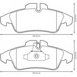 BENDIX 573190B колодки тормозные передние