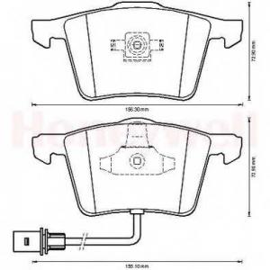 BENDIX 573198B колодки тормозные передние
