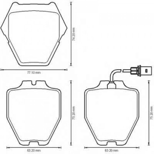 BENDIX 573208B колодки тормозные передние