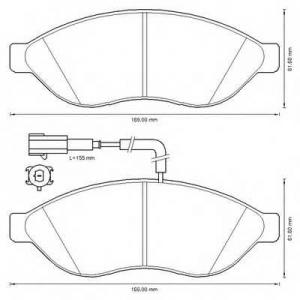 BENDIX 573260B колодки тормозные передние