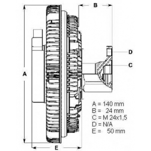 BERU LK012 Муфта вентилятору