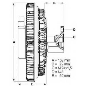 BERU LK014 Hvt?ventill?tor kuplung
