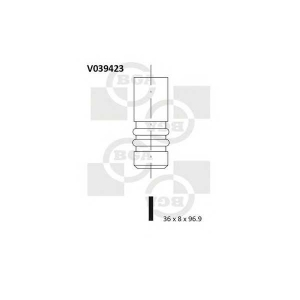 BGA V039423 Впускной клапан
