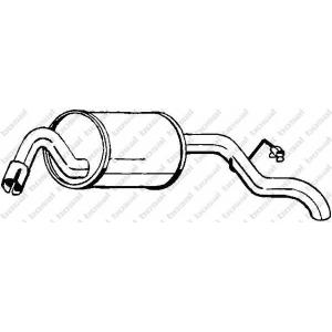 Глушитель выхлопных газов конечный 154935 bosal - FORD ESCORT V (GAL) Наклонная задняя часть 1.3