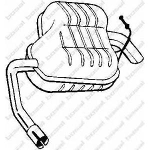 Глушитель выхлопных газов конечный 154965 bosal - FORD MONDEO II (BAP) Наклонная задняя часть 2.0 i