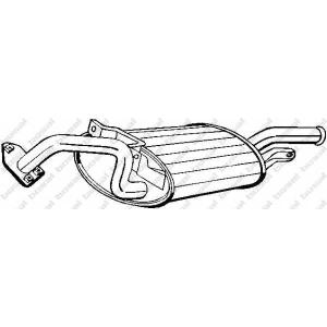177113 bosal Глушитель выхлопных газов конечный MITSUBISHI GALANT седан 1.8 (E32A)